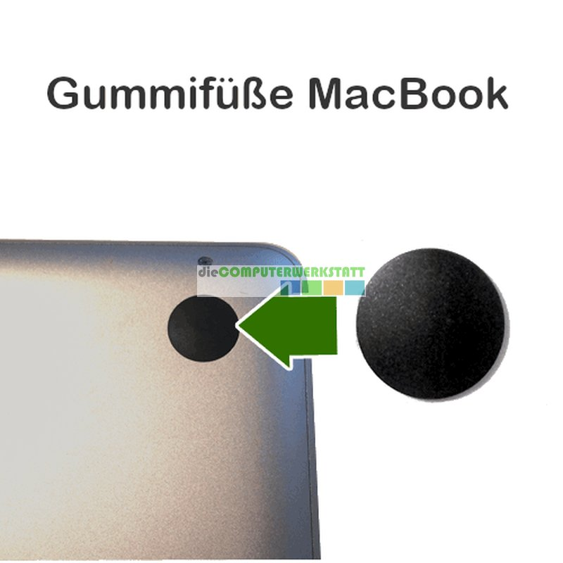 Apple MacBook Pro / Air / Retina Gummifuß für Bodenplatte
